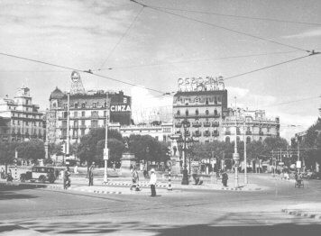 Central Barcelona in the 1950s